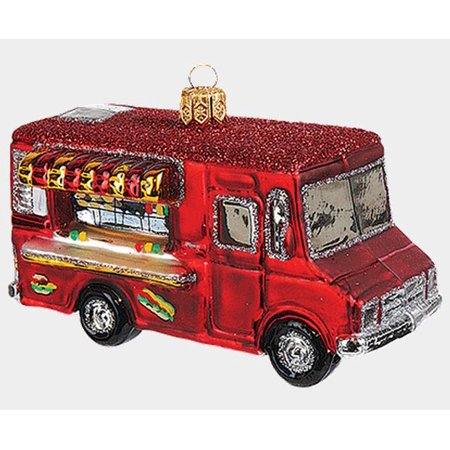 food truck polish mouth blown glass christmas ornament decoration