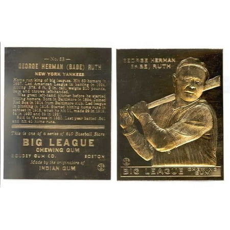 Gold Baseball Cards - BABE RUTH 1933 Goudey 23KT Gold Card Sculptured # 53 ROOKIE - New York Yankees