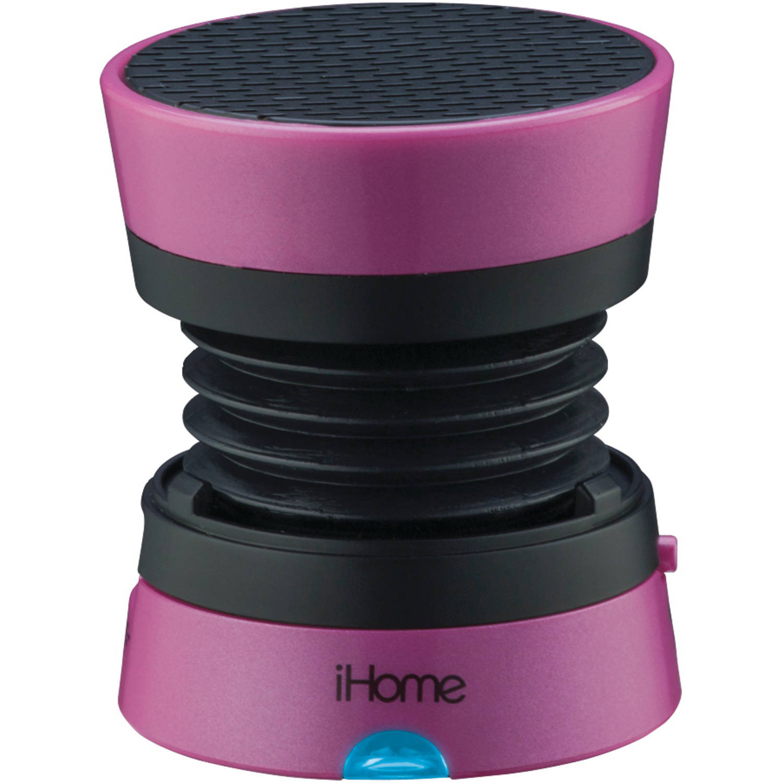 iHome Rechargeable Mini Speaker, Pink