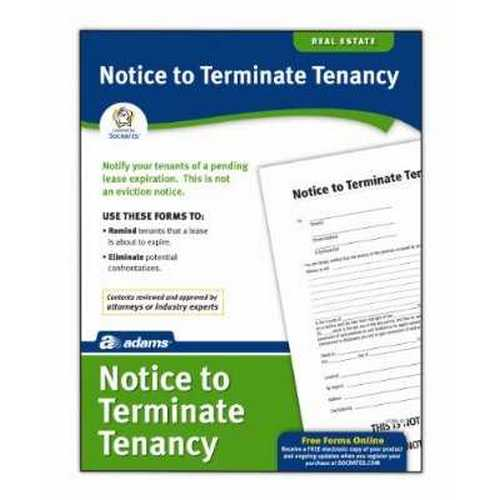 Adams Notice To Terminate Tenancy Form, 8.5 x 11 Inch, White (LF285)