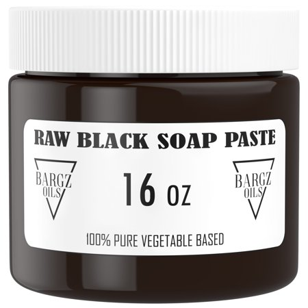 Raw Black Soap Paste - 100% Pure - Best For Treating Rosacea, Rashes, Dryness And Other Skin Conditions - 1
