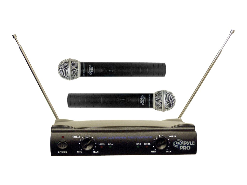 Pyle Pro PDWM2500 Dual VHF Wireless Microphone System by Pyle Audio
