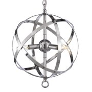 "Gallery T22-1000 Chrome 3 Light 12"" Wide Caged Pendant"