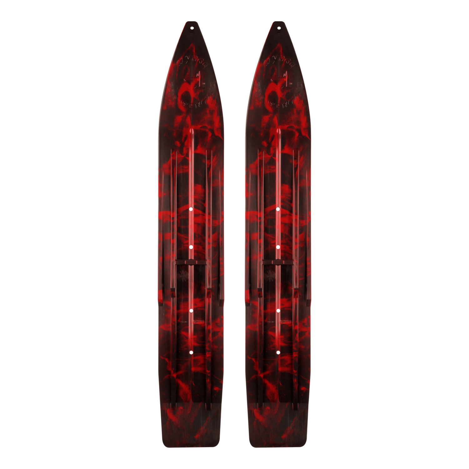 SLYDOG SKIS Powder Hound Ski Black, Red #310154 by SLYDOG SKIS