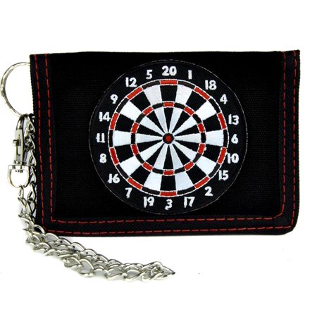 Dart Board Game Tri-Fold Wallet with Chain Alternative Clothing Novelty Bar Gift](Novelty Wallets)