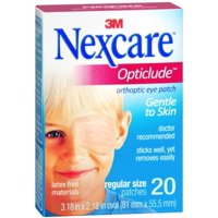 4 Pack - Nexcare Opticlude Orthoptic Eye Patches Regular 20 Each