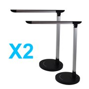 LOT X2 Adjustable Dimming Touch Luxury LED Desk Lamp Reading Light Dimmer Cool