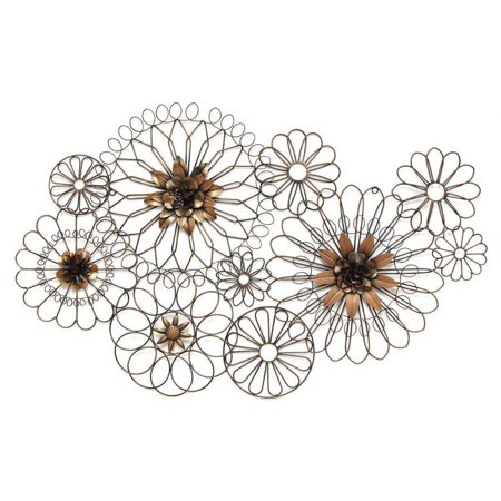 Stratton Home Decor Whimsical Wire Flowers Wall Decor