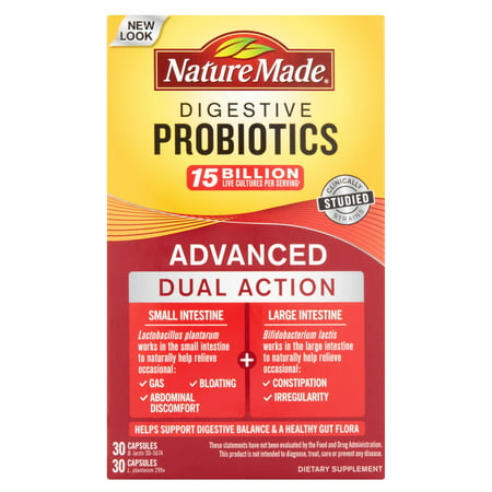 Nature Made Digestive Probiotics Advanced Capsules, 60 Ct