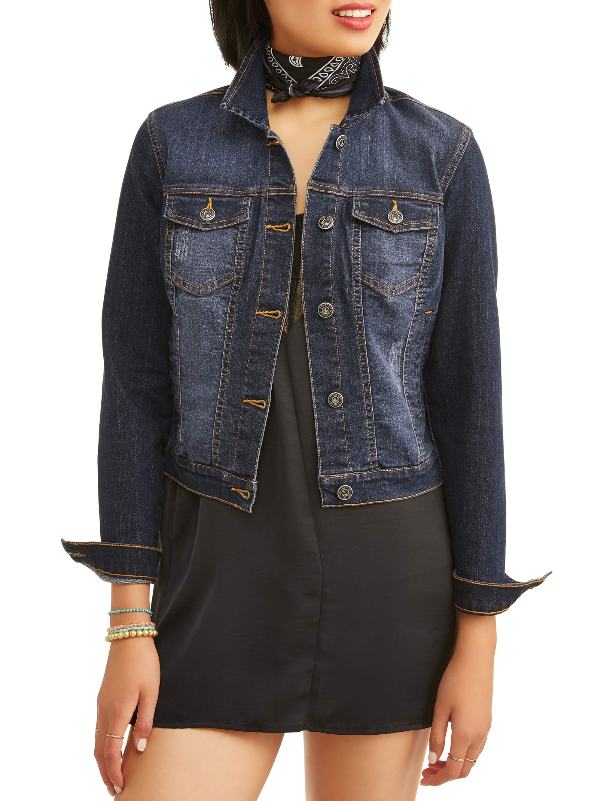 Miss Selfie Junior's Basic Denim Jacket