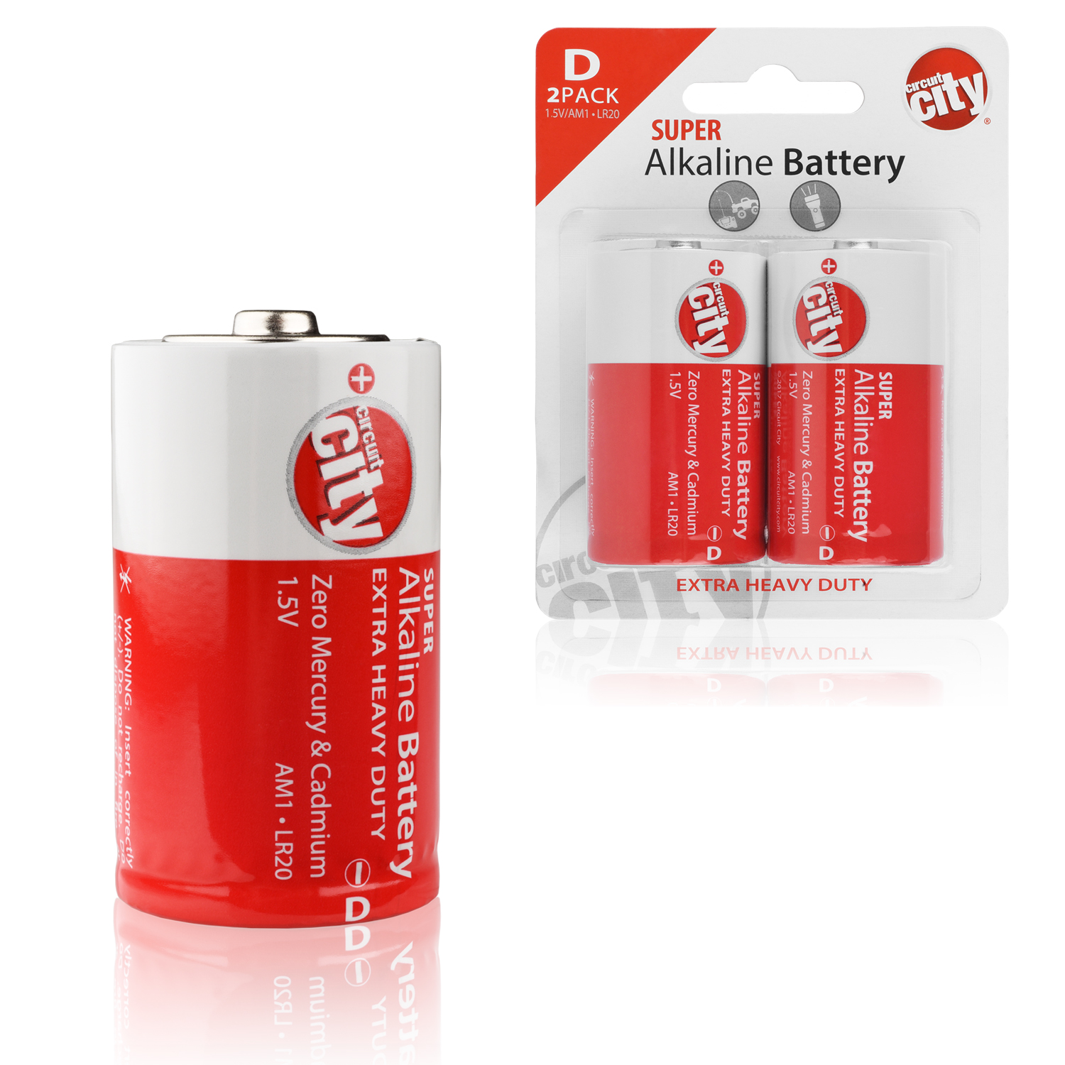 Essential Circuit City D-Cell High Performance  Alkaline Batteries (2 Pack)