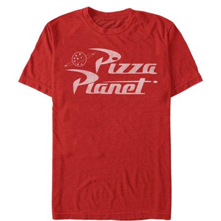 Toy Story Men's Pizza Planet Logo T-Shirt (Planet Of The Apes Shirt Men)