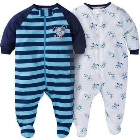 8fc866137 Gerber - Newborn Baby Boy Zip Front Sleep N Play Footed Sleepers