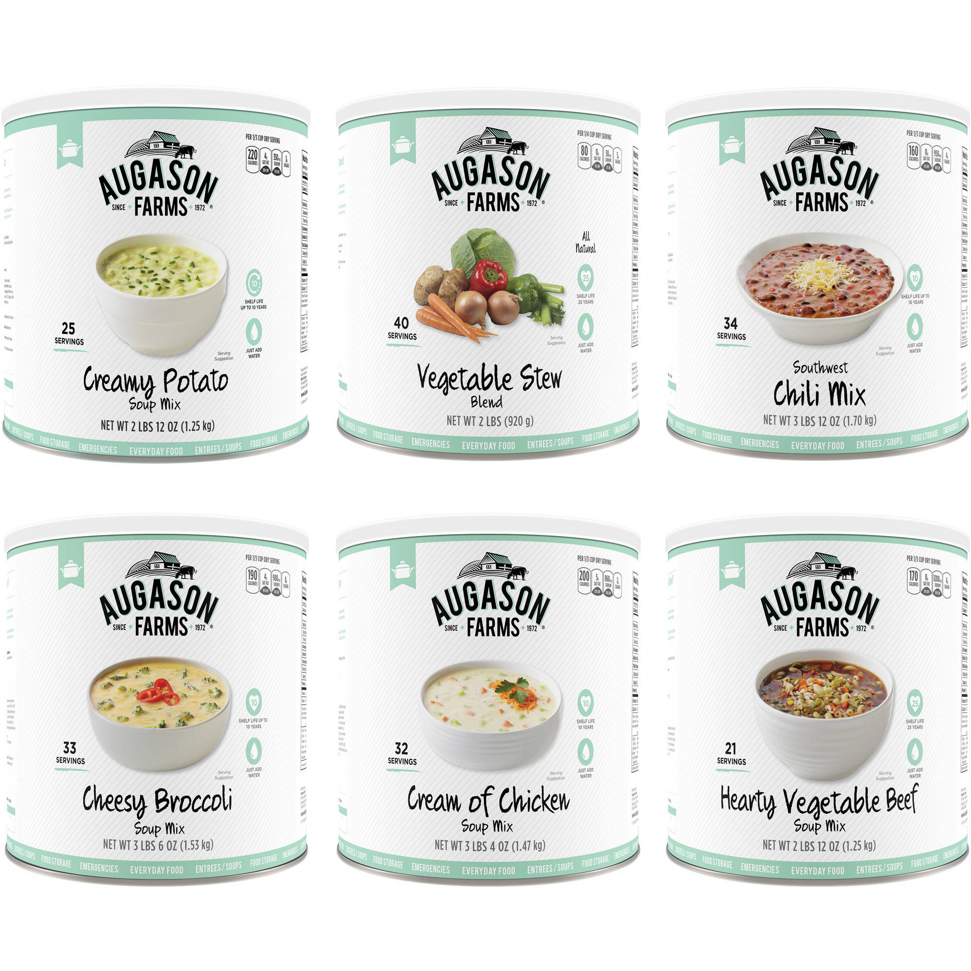 Augason Farms Gourmet Soup Variety Kit No. 10 Can 6-Pack