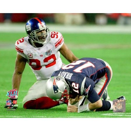 Michael Strahan Super Bowl Xlii Action Photo Print