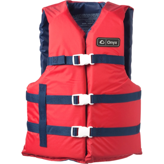 Absolute Outdoor Onyx Adult General Purpose Vest, Type III, Red