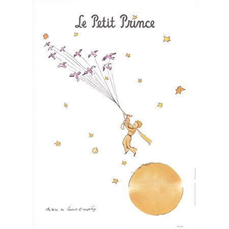 Antoine de Saint Exupery-The Little Prince and the Wild Birds-Poster (Little Prince Photo)