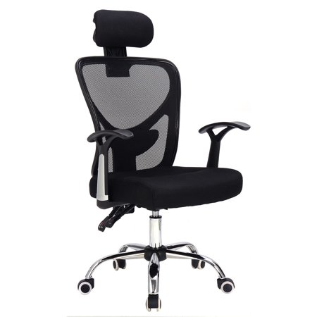 Mesh High Back Executive Chair - Costway Ergonomic Mesh High Back Office Chair Computer Desk Task Executive with Headrest