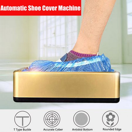 Automatic Shoe Cover Dispenser Machine Home Office Carpet Cleaning Overshoes + (Shoe Cover Dispenser)