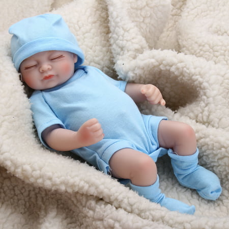 Realistic Lifelike Newborn Great to Reborn Baby Doll, Sweet Dream Girl Doll Crafted in Soft Silicone Vinyl and Weighted Body Handmade Gift, Weighted Alive Lovely Cute Doll, 11 inch - Craft Dolls