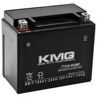 KMG YTX20-BS Battery For Harley-Davidson 1200 XL, XLH (Sportster) 1987 - 1996 Sealed Maintenance Free 12V Battery High Performance Replacement Powersport Motorcycle ATV Scooter Snowmobile Watercraft
