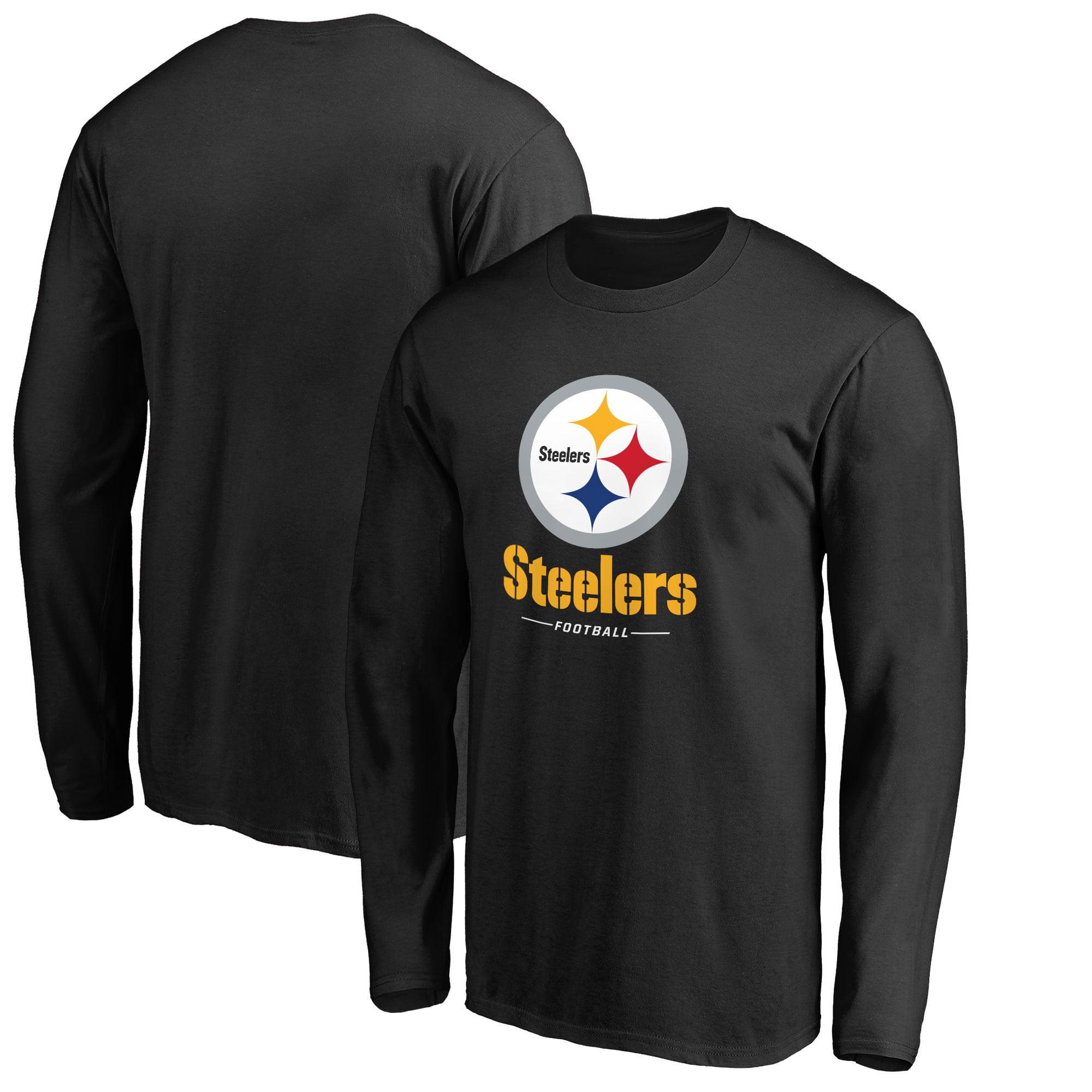 Pittsburgh Steelers NFL Pro Line by Fanatics Branded Team Lockup Long Sleeve T-Shirt - Black