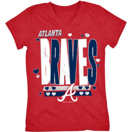 MLB Atlanta Braves Girls Short Sleeve Team Color Graphic Tee ()
