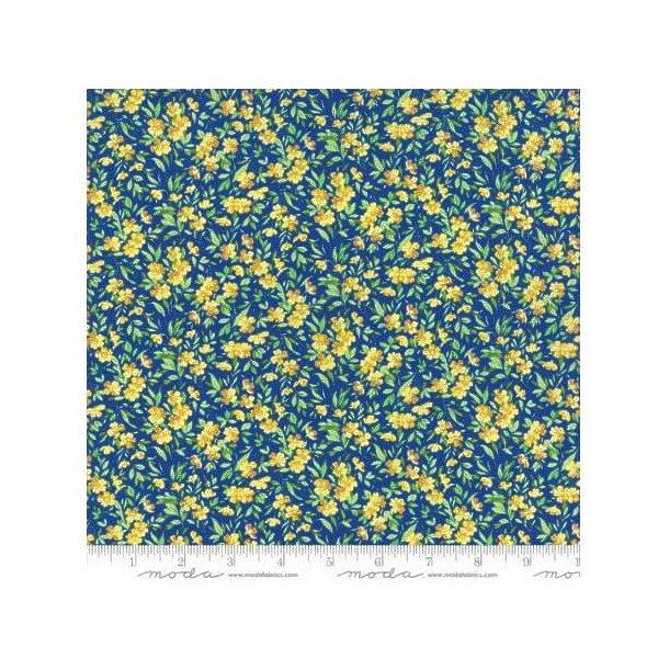 Buttercup Medium Blue - Summer Breeze - Moda Cotton Fabric