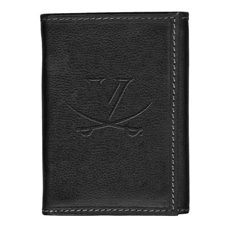 University of Virginia Cavaliers Leather Tri-Fold Wallet Black Trifold