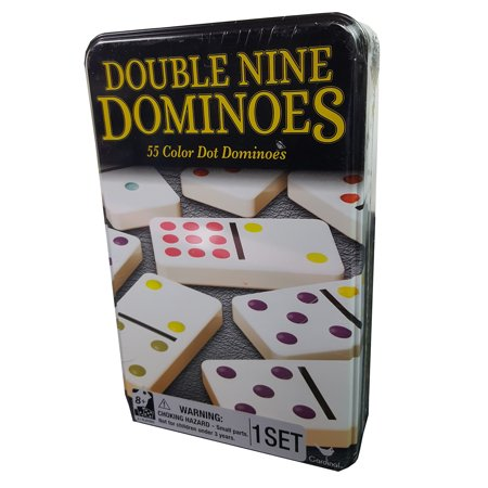 Jumbo Double Six Dominoes - Double Nine Dominoes in Tin
