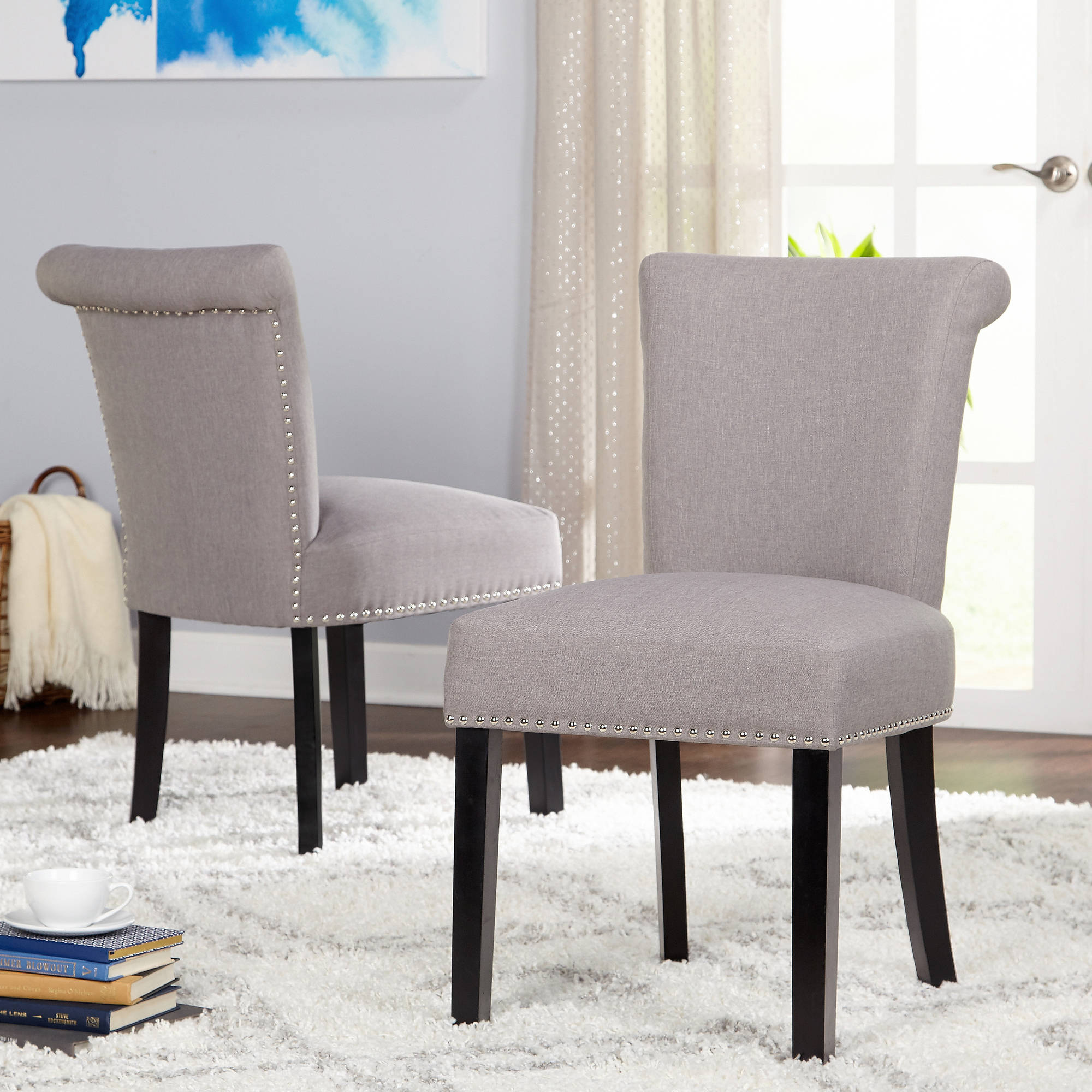 Adeline Dining Chair, Gray, Set of 2