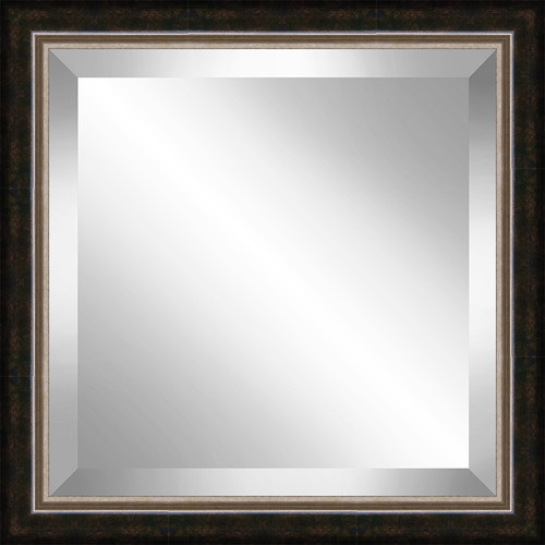 Ashton Wall D cor LLC Square  Antique Framed Bevel Plate Glass Mirror