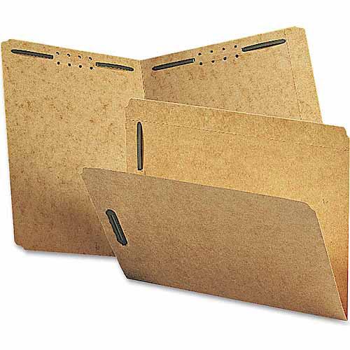 Smead Kraft K-Style Fastener Folders, Straight Cut, Top Tab, Letter, Brown, 50/Box