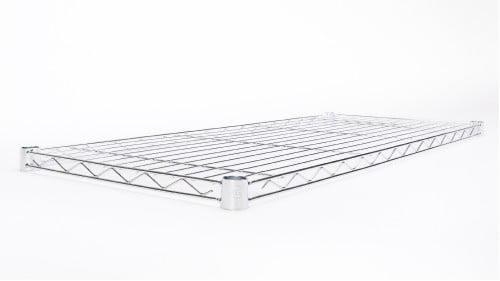 "HSS Wire Shelving Extra Wire Shelf 14"" X 36"", Fits on 7/8"" Pole Diameter, Silver/Zinc, 1-PACK, Shelf Capacity 350 lbs"