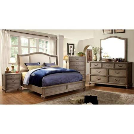 Furniture of America Minka II Rustic Grey 4-Piece Bedroom Set Queen
