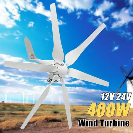 Wind Turbine Generator 400W DC 12/24V 6 Blade Vertical
