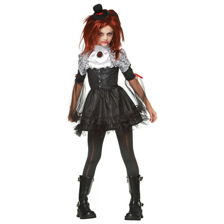 Edgy Vamp Victorian Vampire Gothic Horror Girls Halloween Costume (Gothic Halloween Party)