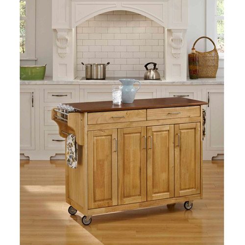 Home Styles Create-a-Cart, Natural with Oak Top