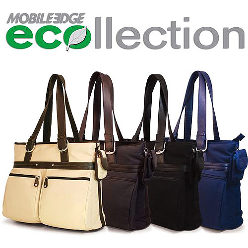 Mobile Edge Eco-Friendly Casual Tote, Chocolate