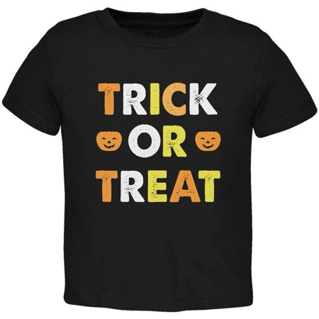 Halloween Trick Or Treat Black Toddler T-Shirt](Treats For Halloween Toddlers)