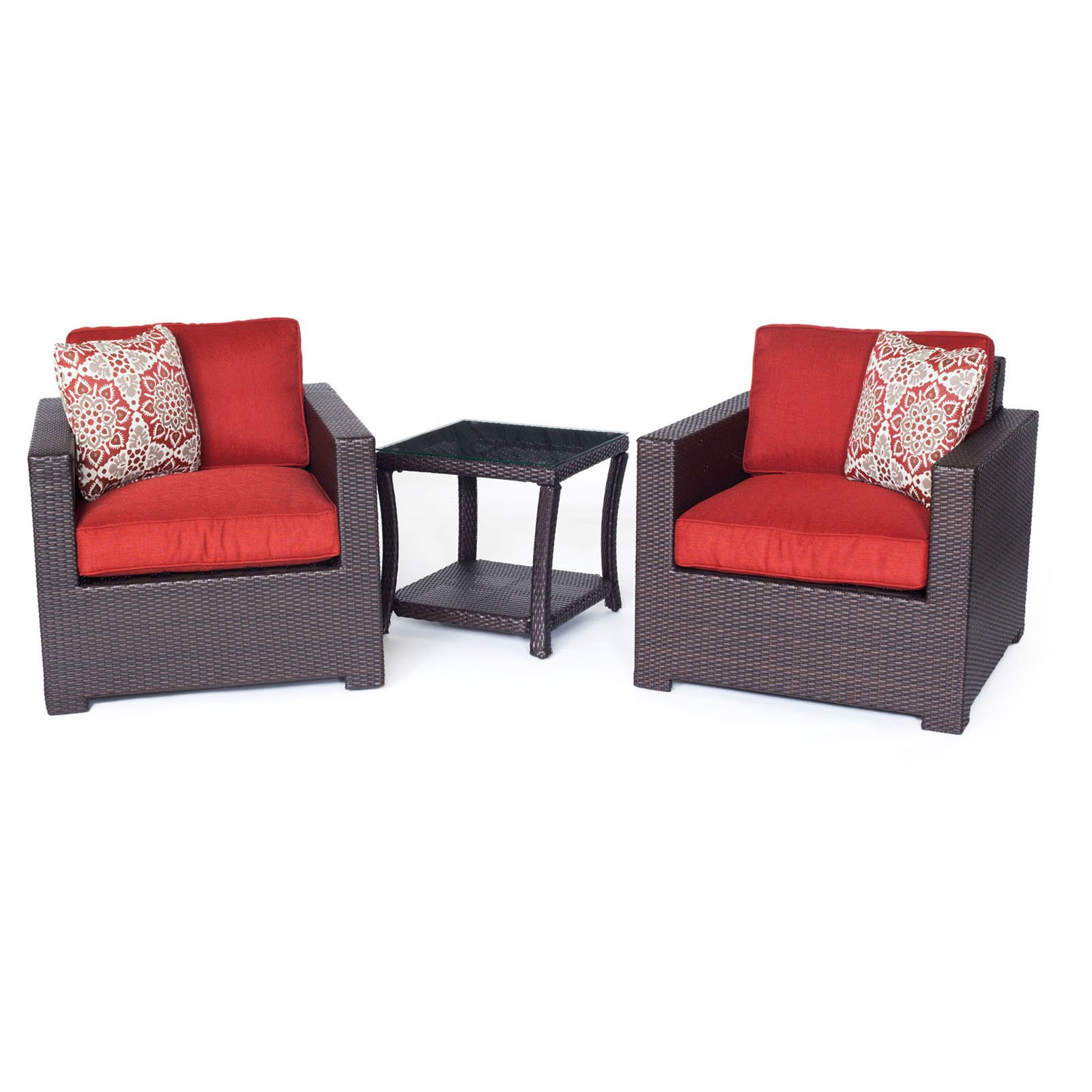 Hanover Outdoor Metropolitan 3-Piece Chat Set