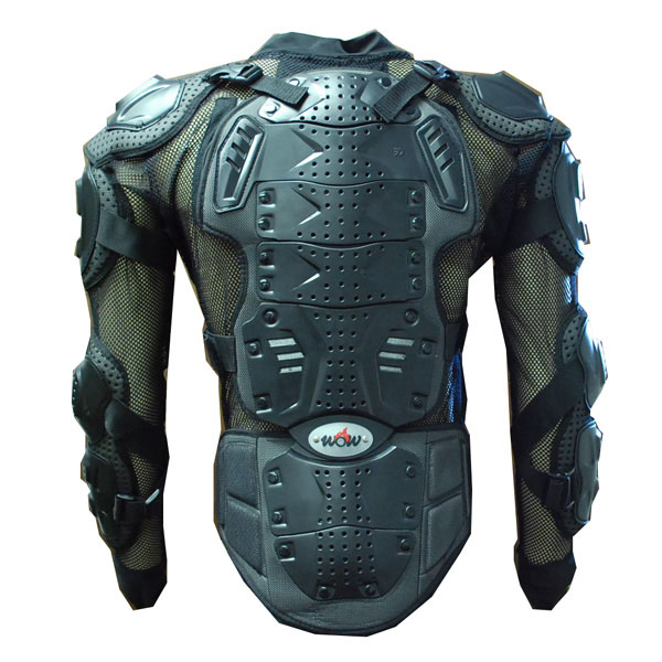 WOW MOTORCYCLE MOTOCROSS BIKE GUARD PROTECTOR ADULT BODY ARMOR BLACK