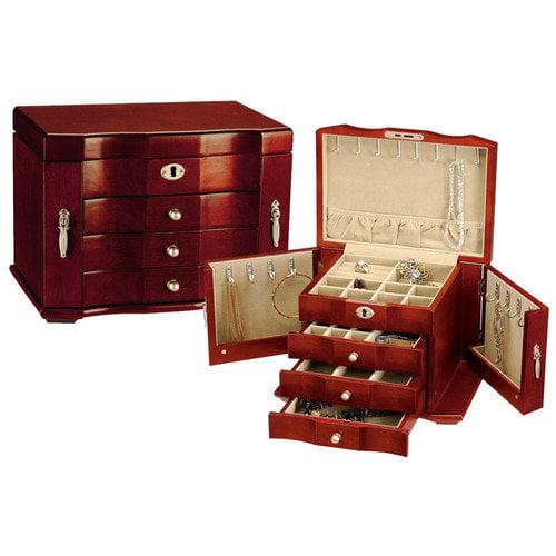 Seya Inc. Cherry Burlwood Jewelry Box