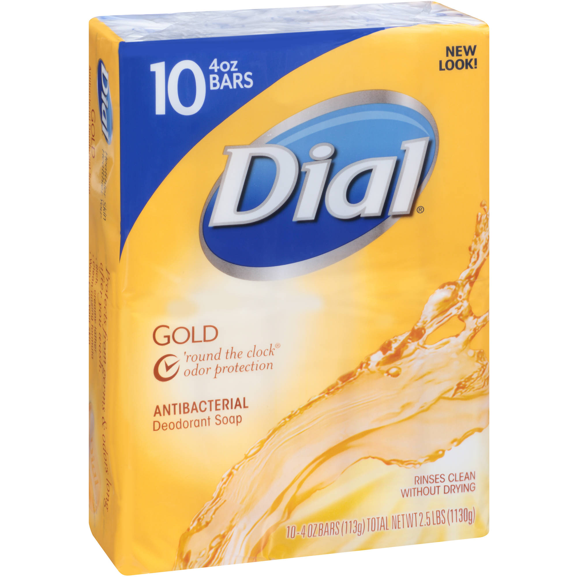 Dial Gold Antibacterial Deodorant Bar Soap, 4 oz, 10 count