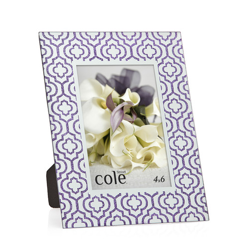 Philip Whitney Damask Glitter Picture Frame