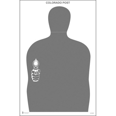 10 Pcs of 2014 Colorado POST Target Gray. Size: 23