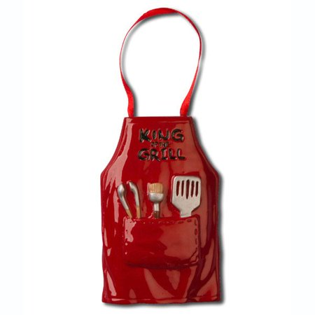 (PERSONALIZED CHRISTMAS ORNAMENTS HOBBIES ACTIVITIES KING OF THE GRILL APRON KIT)