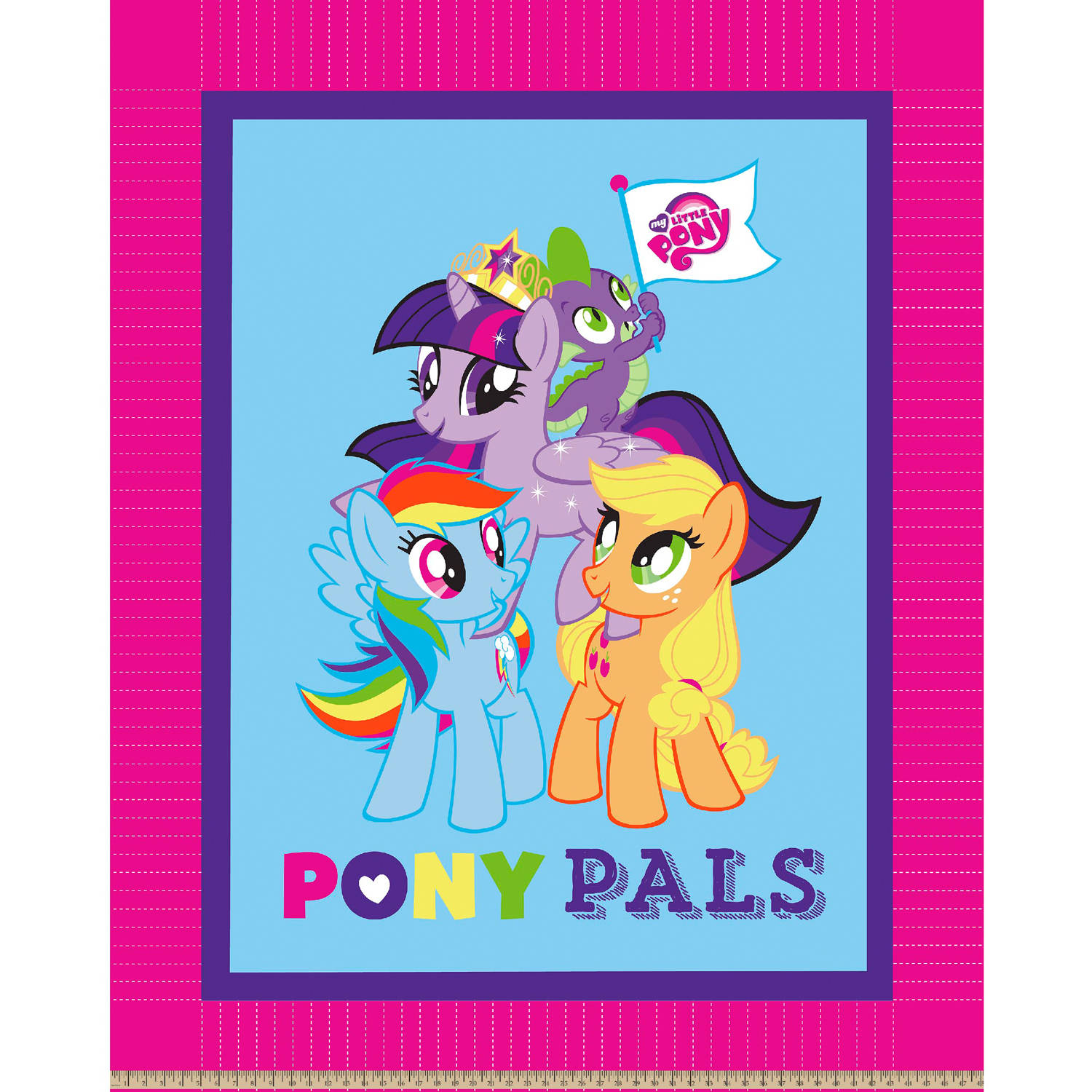 Hasbro Bros My Little Pony Pals No Sew Fleece Throw Kit, Fuschia