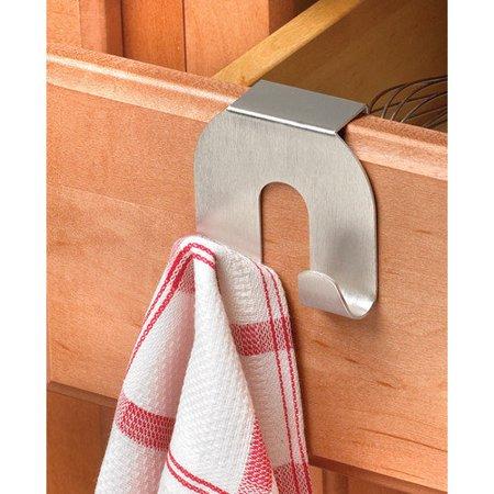 Dishwasher Hook - Spectrum Diversified Over-The-Cabinet Double Hook, Brushed Nickel