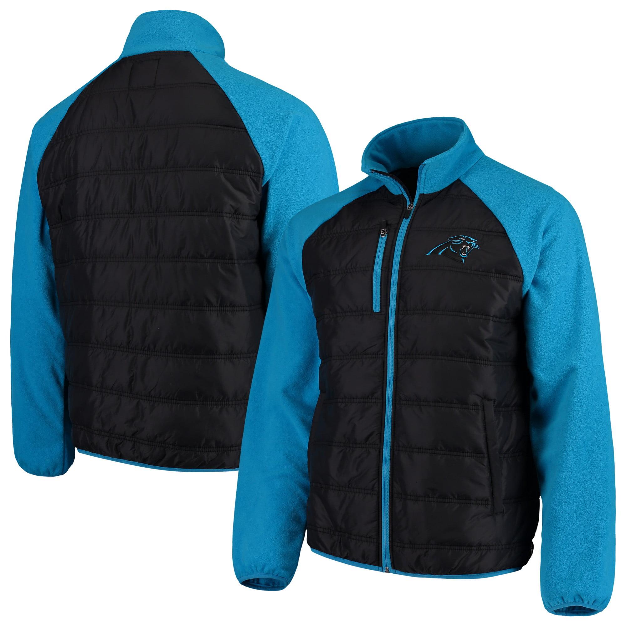 Carolina Panthers G-III Sports by Carl Banks Reinforcer Full-Zip Jacket - Black/Blue